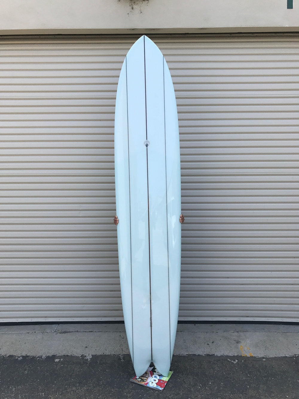 - This is my version of Skip's Fish Simmons. This board has a single to deep double concave exiting the the tail with a fair amount of V in the tail. For all sizes I keep the tail block at 10