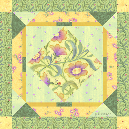 LLB_quilt Block yellow