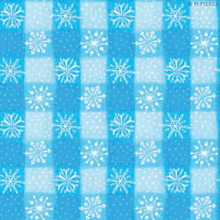 X_10WF-plaid snowflakes