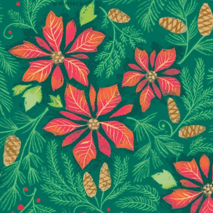 X_10WG-poinsettia repeat green