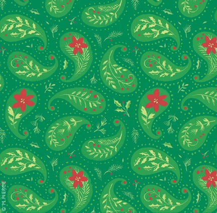 X_10WG-red poinsettia paisley