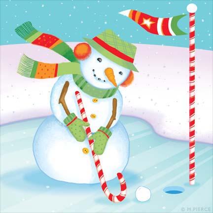 X_13-golfing Snowman