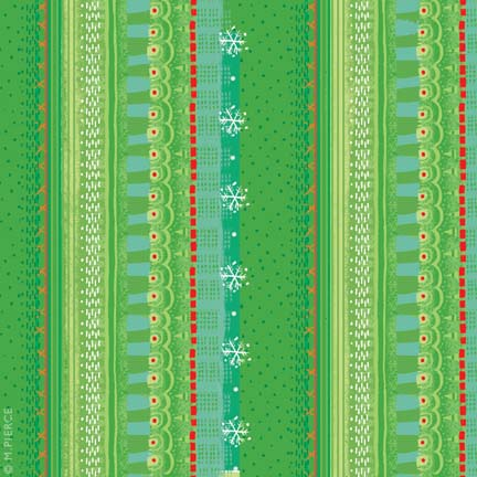X_13-green knit pattern