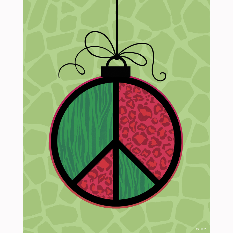 xmas-15-peace ornament