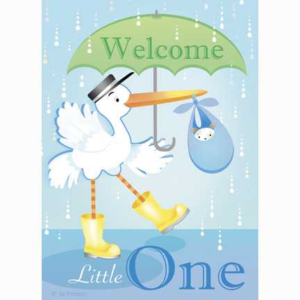 baby-15-welcome stork flag
