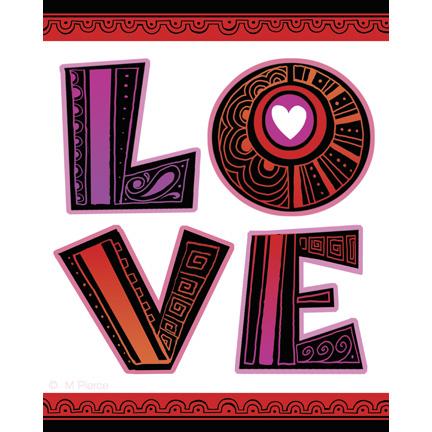 Val-15-Love lettering