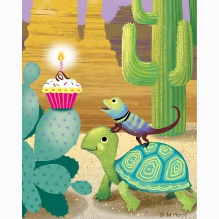 bday-15- lizard cupcake