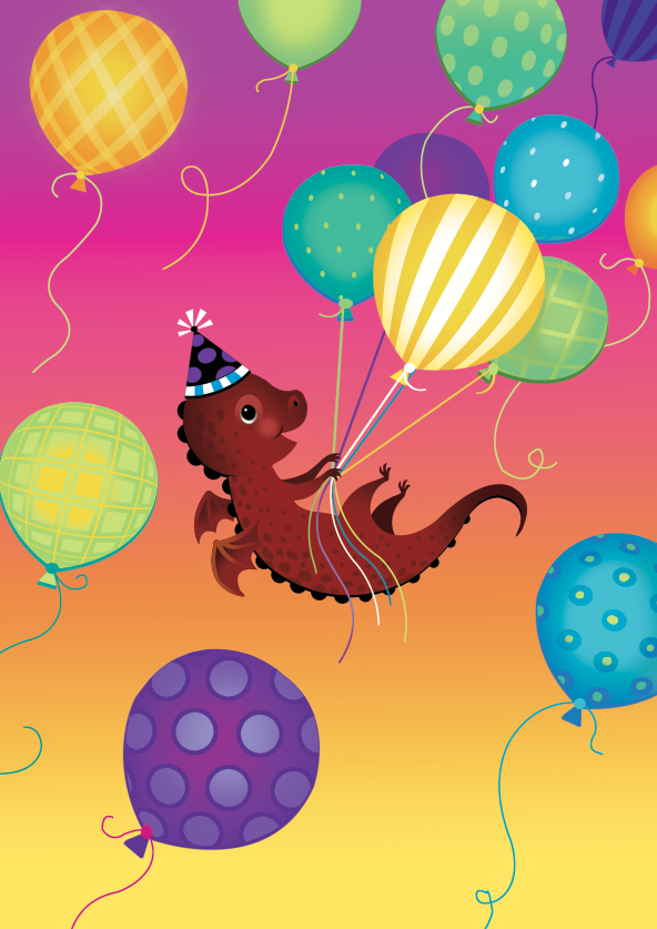 bday-15-dragon balloons