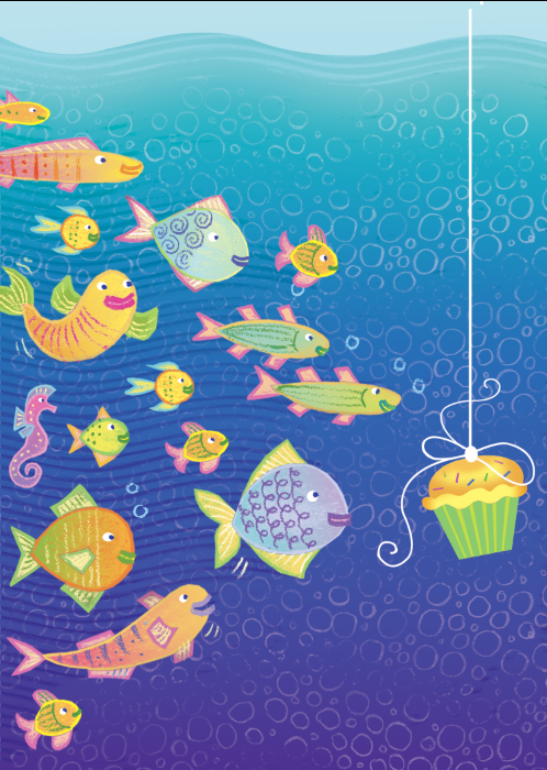 bday-15-fish cupcake