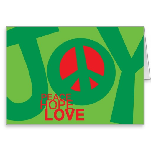 Joy, Peace, Hope and, Love Holiday Card