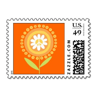 Peace Flower Postage Stamp
