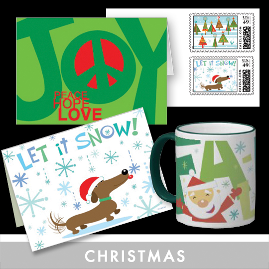 Custom Christmas Photo Cards, Thank You's, Gift Tags, Postage and Gifts for a memorable holiday.