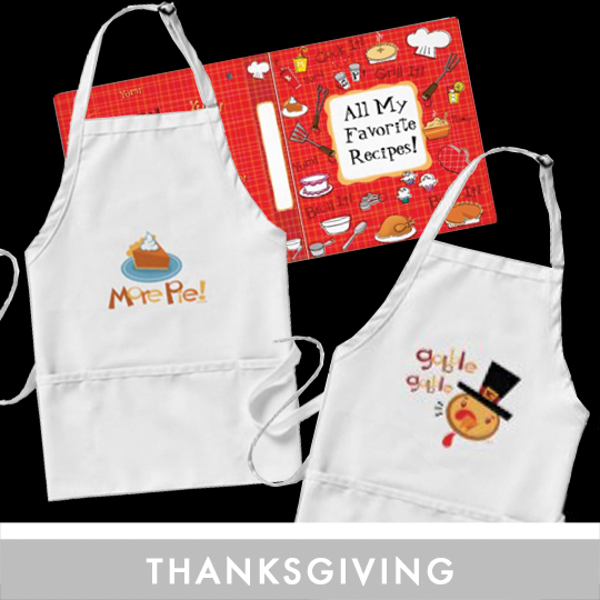 Custom Thanksgiving Photo Cards, Thank You's, Recipe notebooks, Aprons and Party Ware for any thanksgiving gathering.