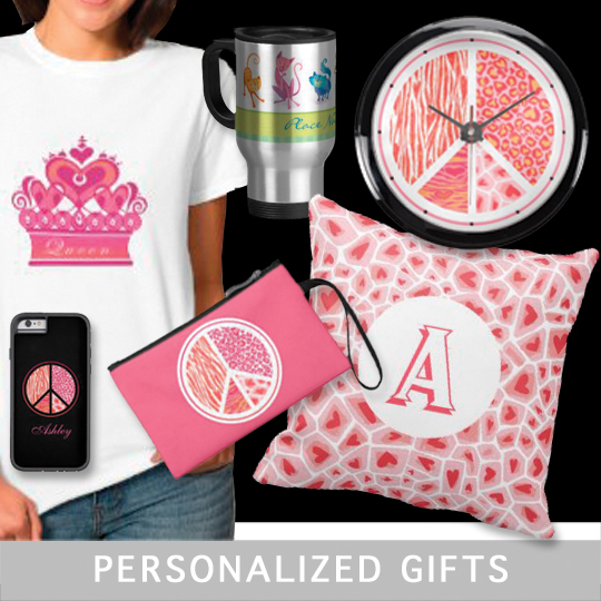 Personalized Travel Mugs, Key Chains, Stickers, T-shirts, Postage and gifts for any occasion.