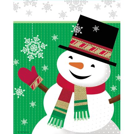 xmas-15-brlp snowman Lace snflk