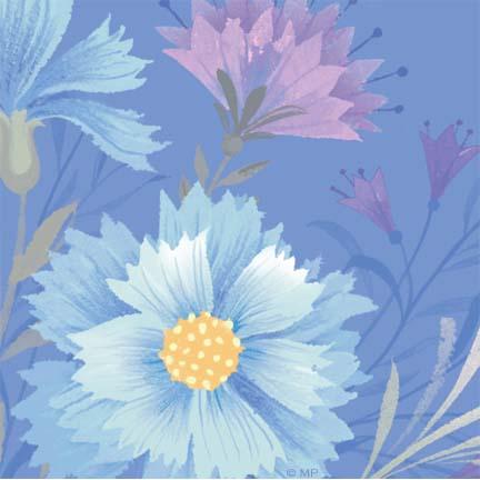 Floral R-16-Blue flower
