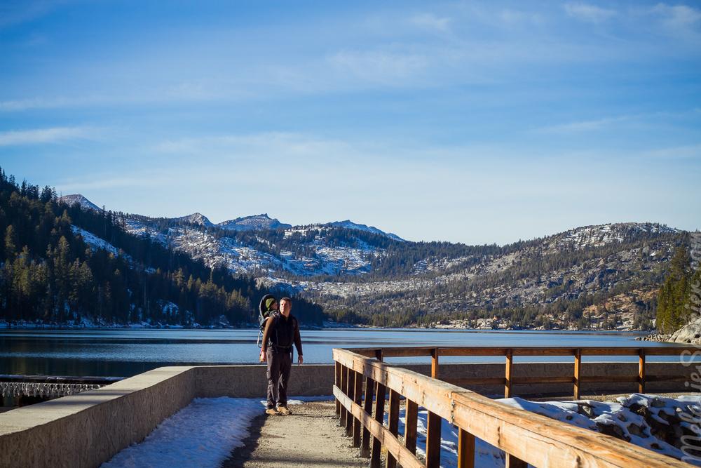 Trailhead of Lower Echo Lake—Entrée du sentier duLower Echo Lake
