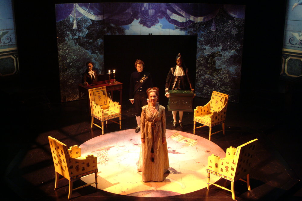 The Swanne at the Stratford Festival. Directed by Peter Hinton, Set Design by Eo Sharp, Lighting Design by Robert Thomson, Costume design by Caroline Smith,
