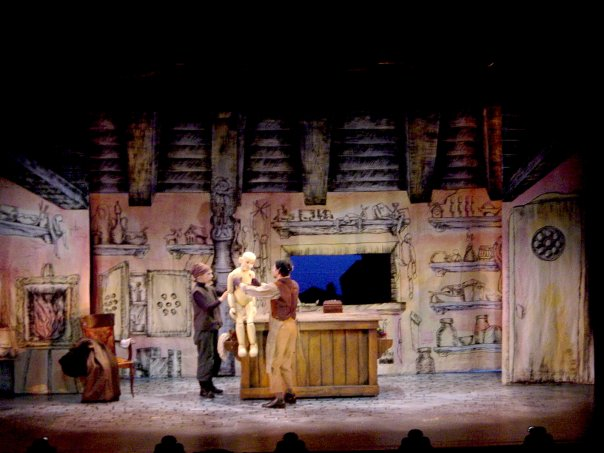 Pinocchio by Maristella Roca at Young People's Theatre 1993, directed by Richard Greenblatt, lighting and sets by Glenn Davidson