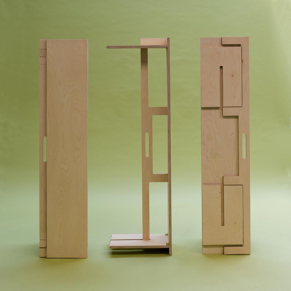 Timber folding bench
