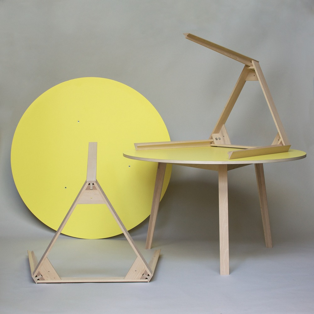 WO circular table July 2014 We have just completed the first batch ofcircular tablescommissioned by Wolff Olins for their London studios.