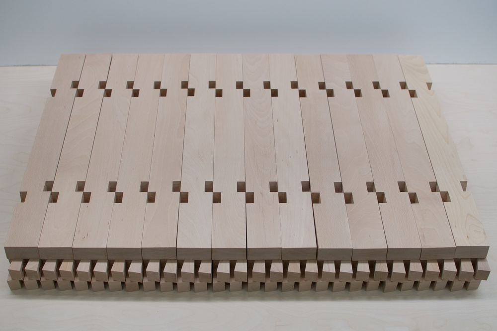 Beech trestles August 2014 We have just shipped more white beech wooden trestles to Studio Tom Emerson at ETHZ.
