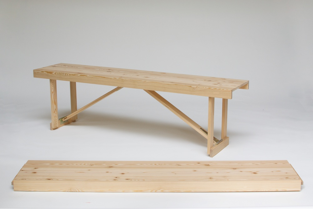 Larch Folding Bench Simon Jones Studio