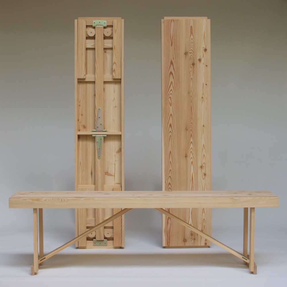 Larch Folding Bench