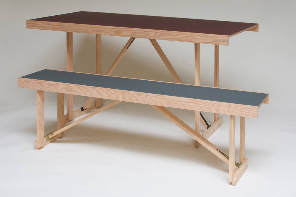 Lino Folding Table & Bench 1