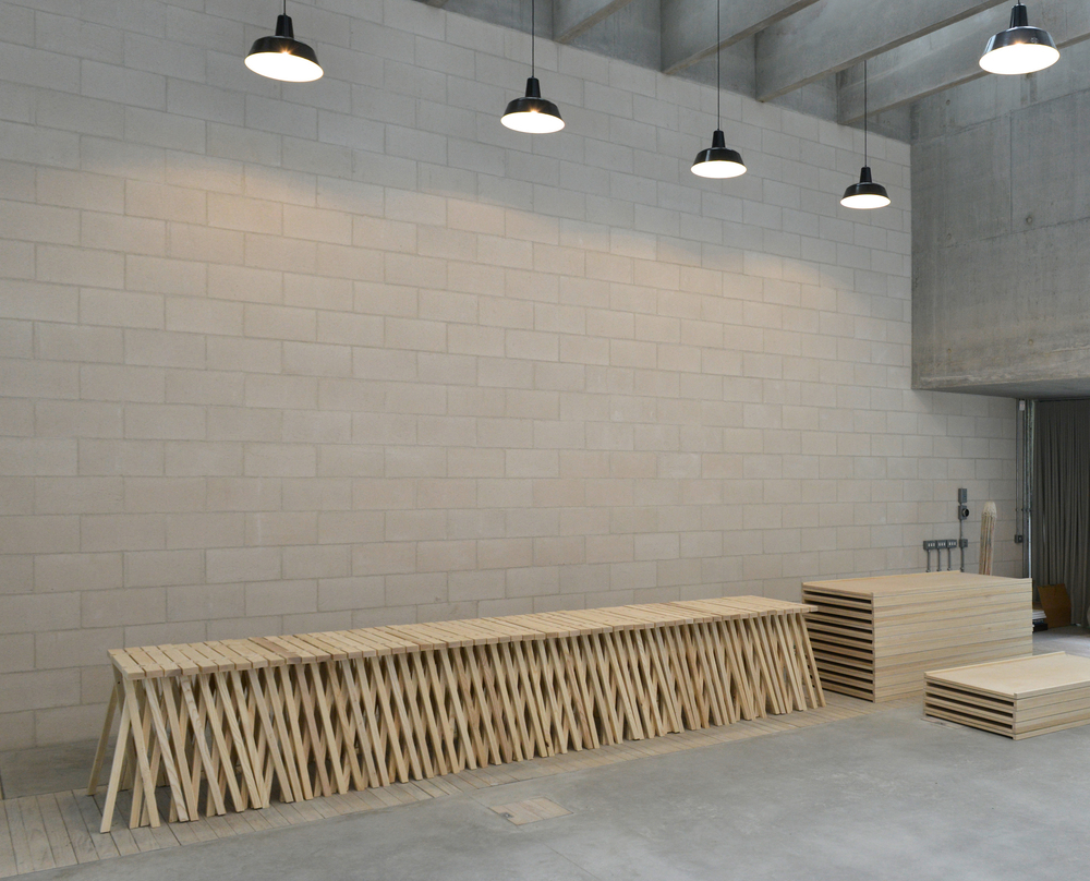 Trestles May 2016 We have made ash trestles and tabletops for Juergen Teller's beautiful new studio by 6a Architects