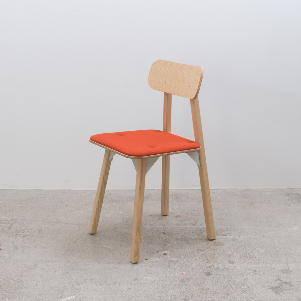 Bracket Chair - Orange Seat Pad