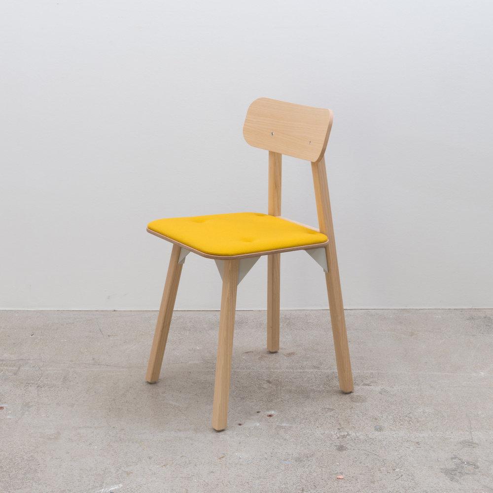 Bracket Chair - Yellow Seat Pad