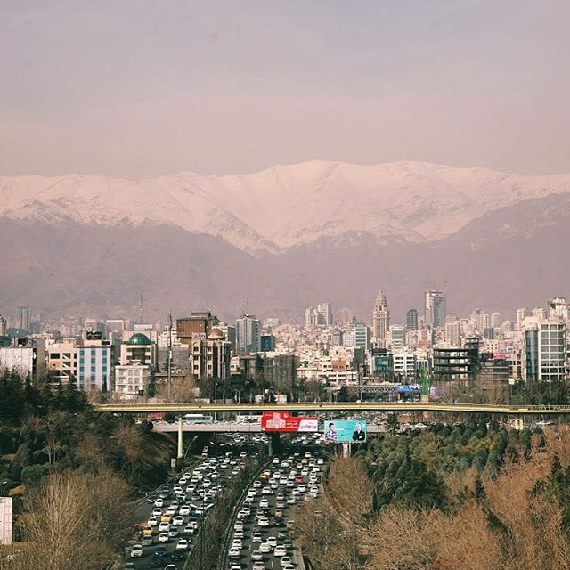 On a clear day, the mountains in Tehran are INSANE.