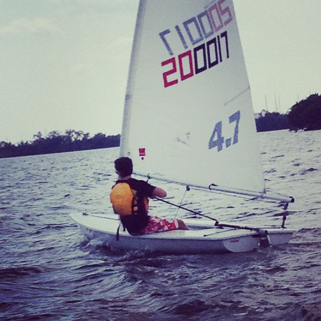 #Youth #Laser #Sailing @justsailmiami on #biscaynebay - #laserperformance #ussailingcenter #ussailing #springbreak #sailingschool #miami #coconutgrove