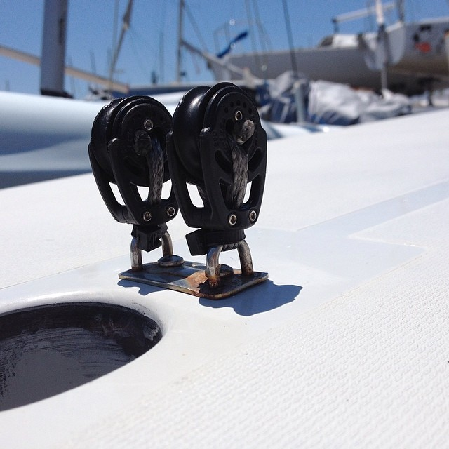 Innovative Sailing Solutions @justsailmiami #2010LaserXD #zipties #harken #sailing #sailingschool #lasersailing #laserperformance #ussailing #ussailingcenter #coconutgrove #miami