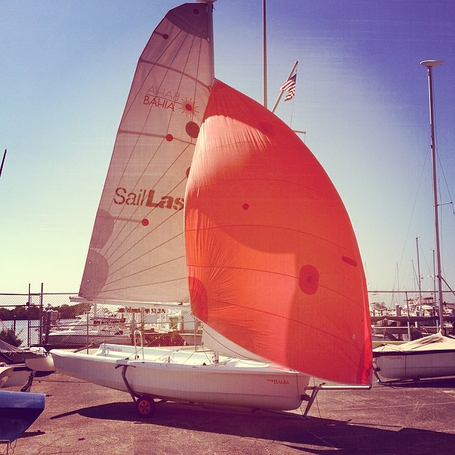 Ready for flight @justsailmiami #ussailingcenter #ussailing #laserbahia #laserperformance #sailing #sailingschool #coconutgrove #miami