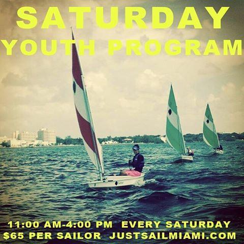 Saturday Youth Sailing Program has begun @justsailmiami # miami #coconutgrove @laserperformance #sunfish #ussailing #biscaynebay #sailing