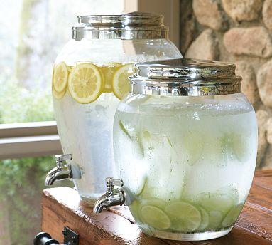 Pottery Barn Glass Drink Dispenser