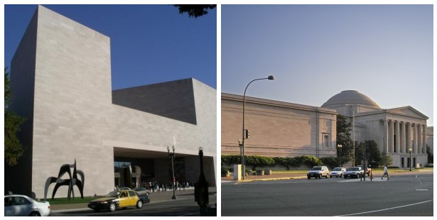 National Gallery of Art, East and West Wing Exteriors