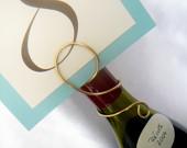 wine bottle table number holders