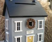 handmade birdhouse wedding card holder