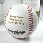 Personalized Engraved Basesball Ring Bearer Groomsman Usher Wedding Party Gift Keepsake