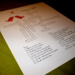 NEW Wedding Crossword Puzzle - Love Birds - Perfect for weddings, rehearsal dinners and showers