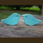 love birds, cake topper,PICK COLOR wooden birds, wedding love birds, small birds doves, tiffany blue