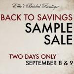 sample sale at ellie's bridal boutique, alexandria, virginia