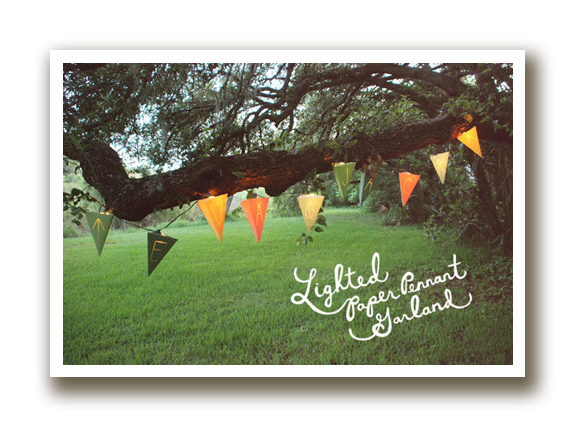 lighted paper pennant garland
