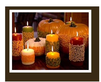 thanksgiving lentil candles