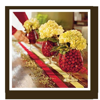 cranberry table centerpieces