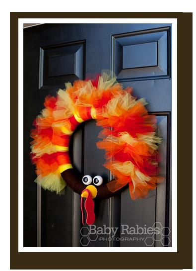 thom the turkey tulle wreath