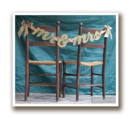 mr and mrs chair banner with shadow